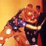 粟倉神社の獅子舞