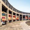 津山まなびの鉄道館で収蔵車両頭出しイベント